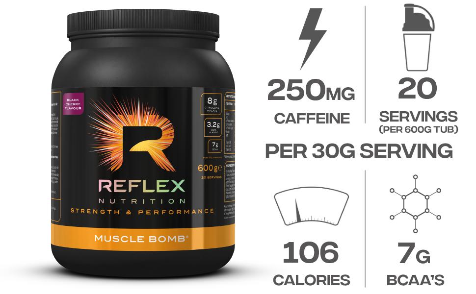 Reflex Nutrition Muscle Bomb Black Cherry - 600 gr: Amazon.es ...