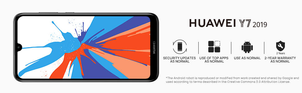 huawei y7 2019 android smart phone