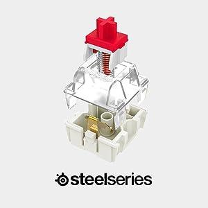 SteelSeries Apex M750 - Teclado para Juegos mecánico - Iluminación RGP por tecla - Disposición QWERTZ alemán