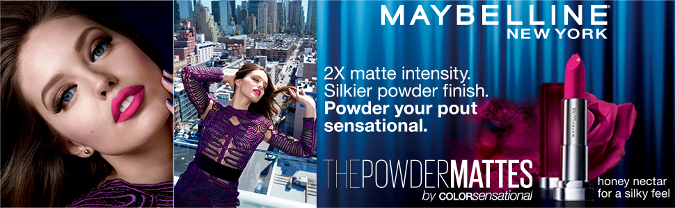 Maybelline Powdermattes lipsticks