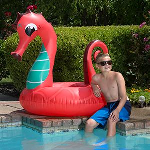 large floats;intex pool floats;wishtime floats for pool;floats seahorse;GoFloats;unicorn float