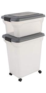 Boîte à croquettes hermétique Air Tight Food Container par Iris Ohyama