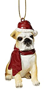 Christmas Ornaments - Xmas Bulldog Holiday Dog Ornaments