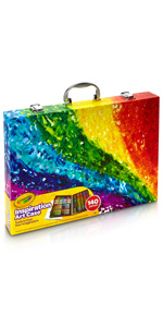 inspiration art case, crayola art case, art case, colored pencils markers, crayons, art supplies,