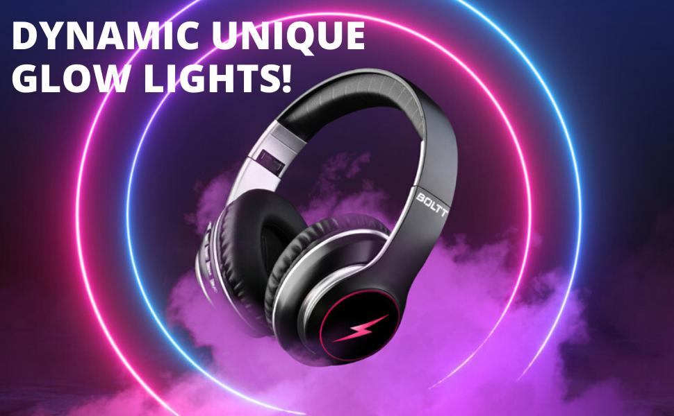 dynamic unique light show headphone