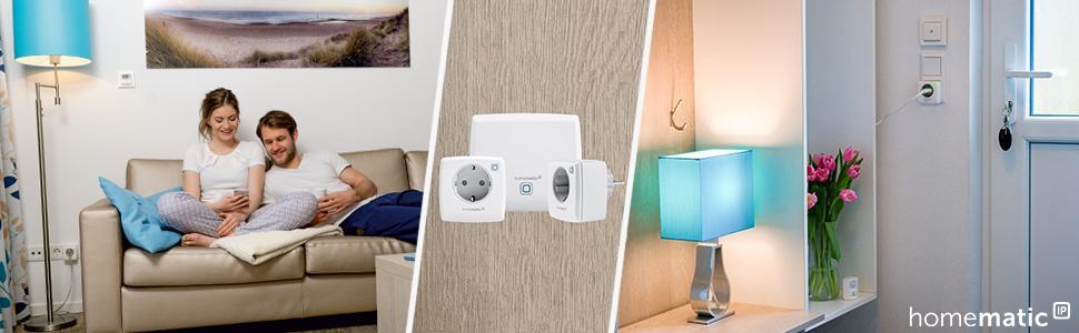homematic ip smart home starter set licht phasenabschnitt zum dimmen und ein bzw ausschalten. Black Bedroom Furniture Sets. Home Design Ideas