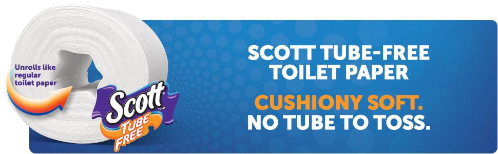 How does bath tissue without a tube work? It unrolls like cored toilet paper, but without cardboard.