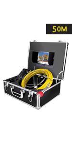 ... Cámara de Tuberías con Contador de Distancia · Pipeline Cámara de Inspección 7H-30M · Cámara de inspección de tuberías a prueba de agua 7D1-50