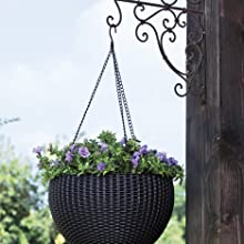 hanging planter with sturdy chain hanger