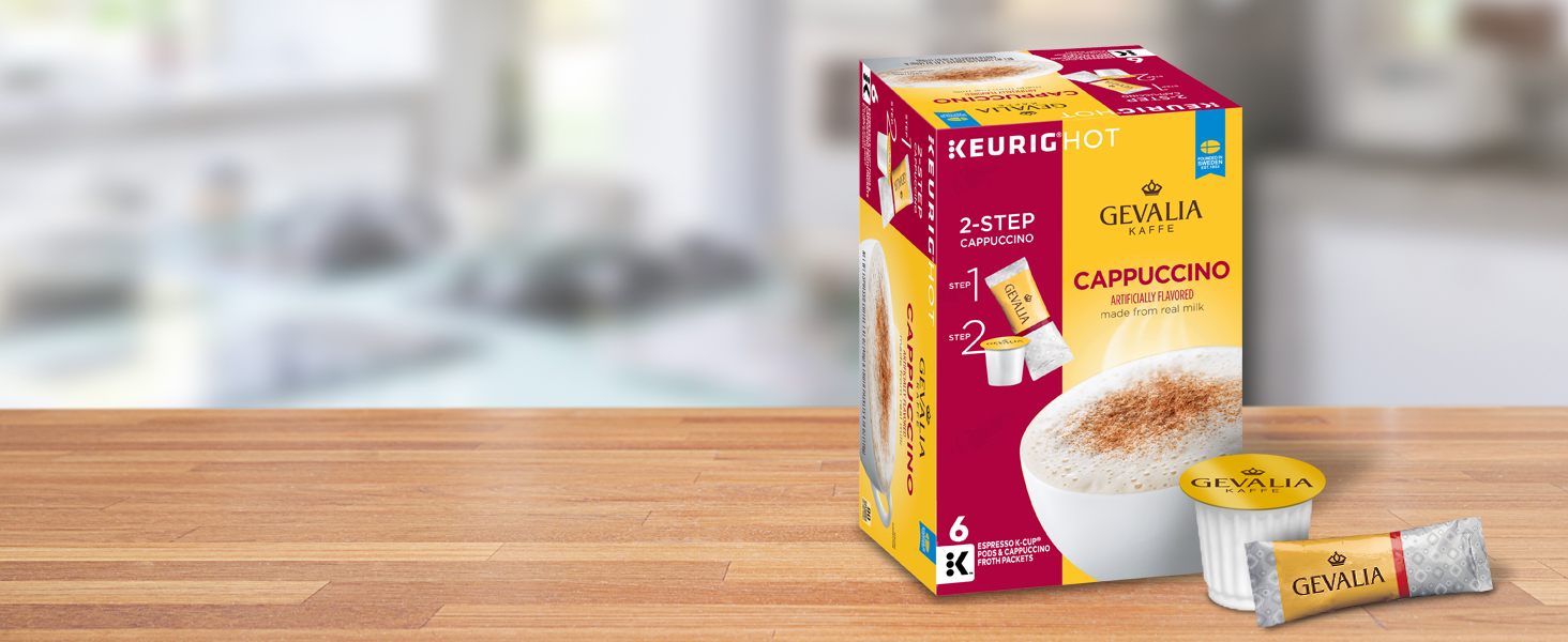 Cappuccino K-Cup Pods and Froth Packets