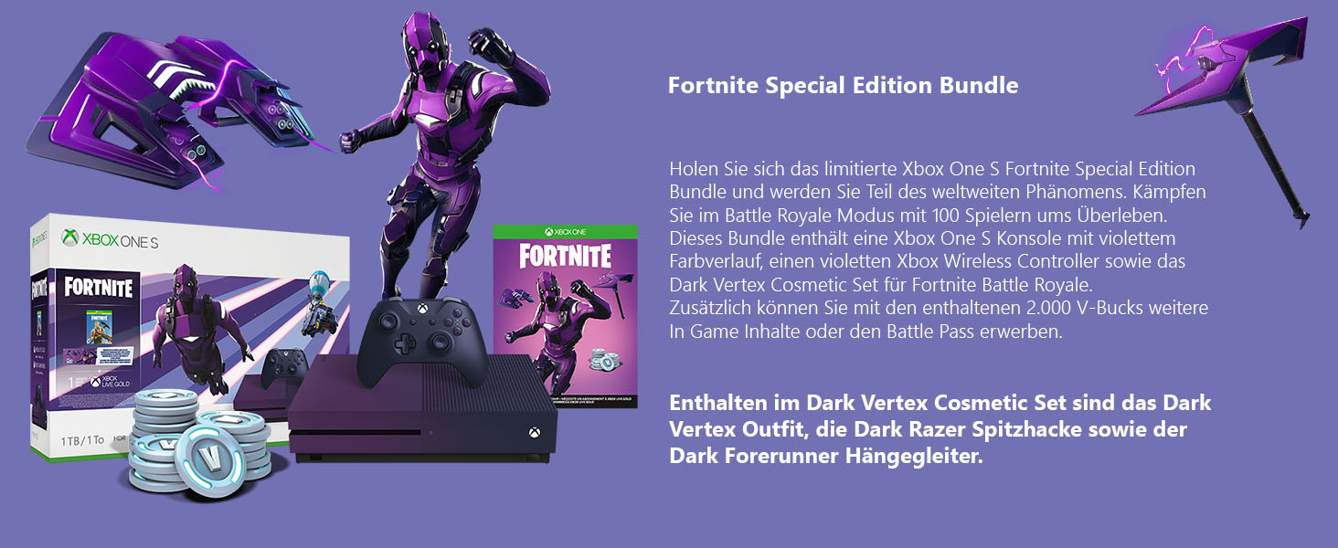 Microsoft Xbox One S 1TB – Fortnite Special Edition Bundle