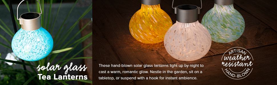 Tea Lantern, Solar Tea Lantern, Solar Glass, Solar Garden Light, Solar LED