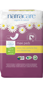 Natracare Regular Maxi Pads organic cotton cover