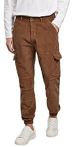 Cargo jogging pants in velluto