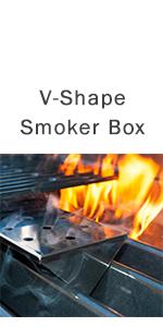 v shape smoker