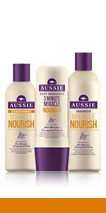 aussie Miracle Nourish hair collection