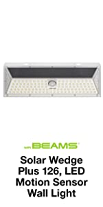 mr beams solar wedge plus 126, wireless solar led outdoor motion spotlight, led solar security light