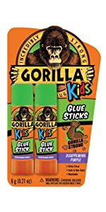 Gorilla Kids School Glue Sticks