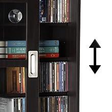 Amazon Com Atlantic Windowpane Adjustable Media Cabinet