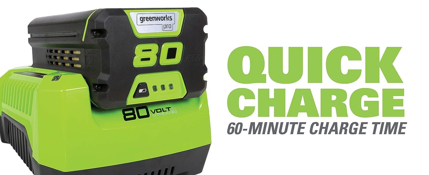 Greenworks bater/ía 80/V ion de litio 4/Ah