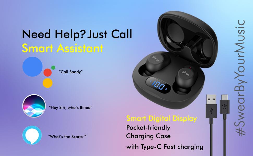 pTron Bassbuds Pro wireless earphones