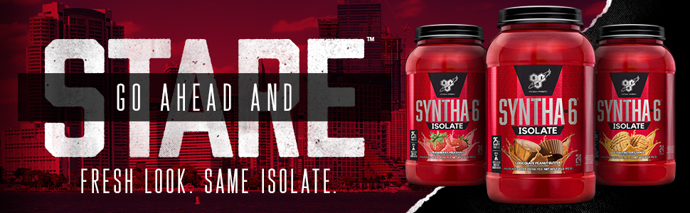 SYNTHA-6 ISOLATE premium protein powder a 50/50 blend of Whey Protein Isolate & Milk Protein Isolate