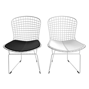 Amazon Com Poly And Bark Morph Side Chair In White Set