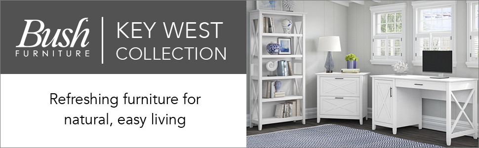bush furniture,key west,pure white oak,white,casual,bush,bush industries