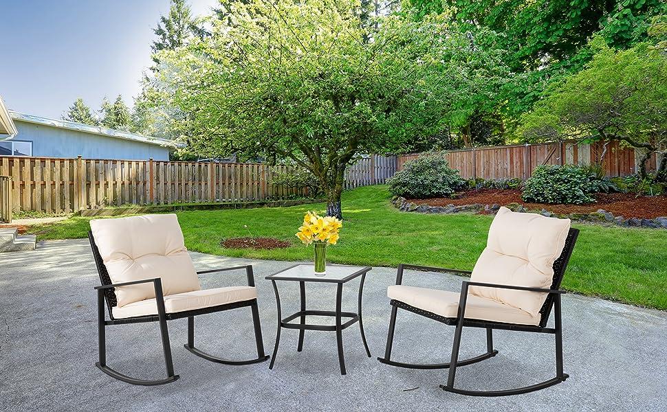 patio rocking chair set