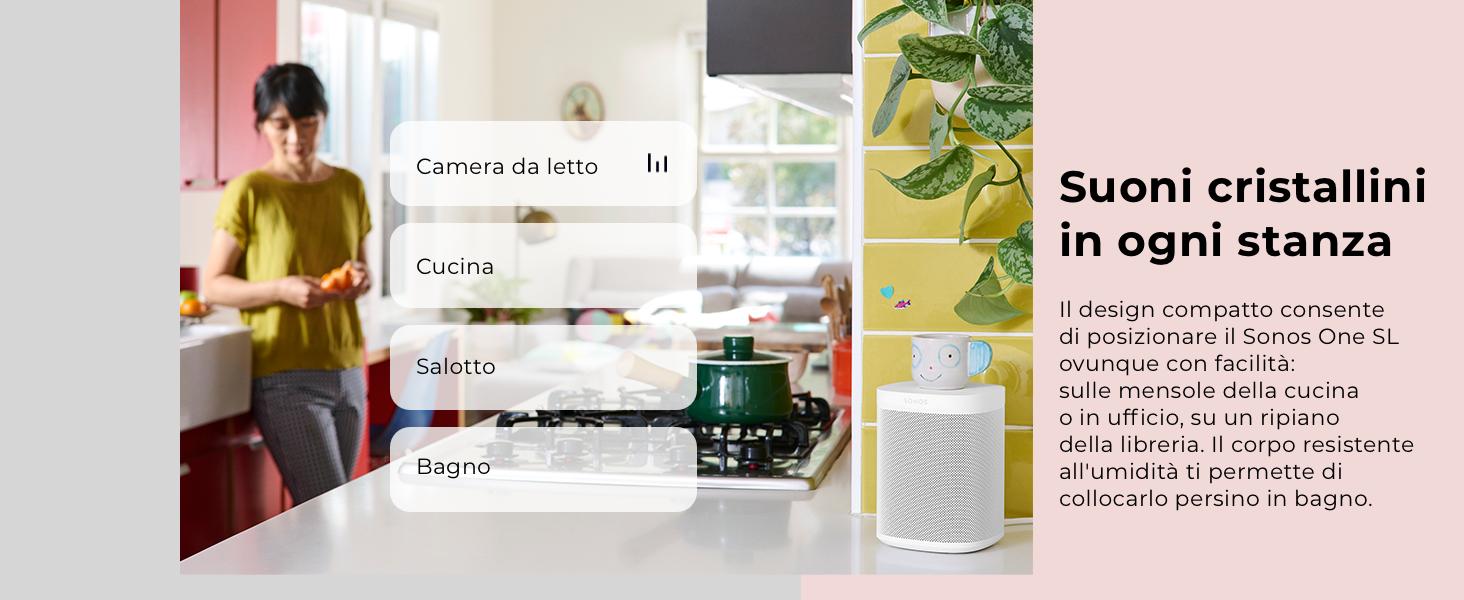 Sonos One SL Speaker per Accoppiamento Stereo e Surround Home ...