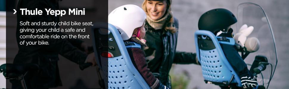 Thule Yepp mini, Thule child bike seat, front bike seat, front child bike seat, baby bike seat,