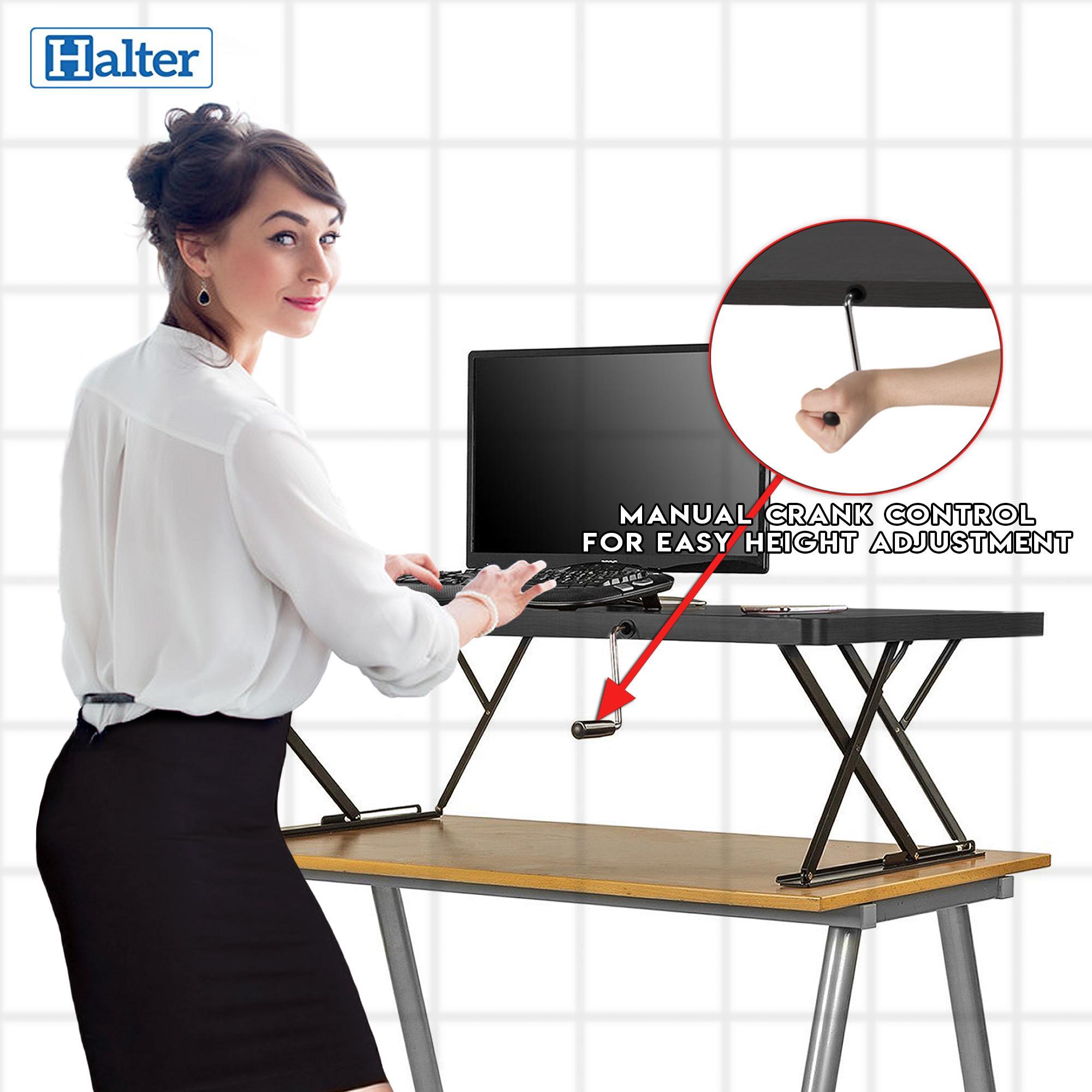 Amazon.com : Halter Manual Adjustable Height Table Top Sit ...