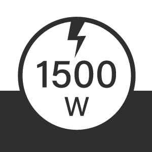 Orbegozo RMN 1575 Radiador de mica de r/ápida convecci/ón y difusi/ón del calor 2 potencias de 500 W y 1500 W Negro