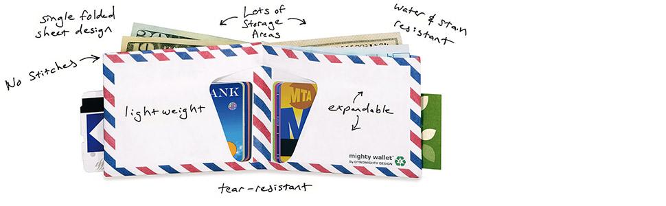 tyvek wallet, mighty wallet, minimalist wallet