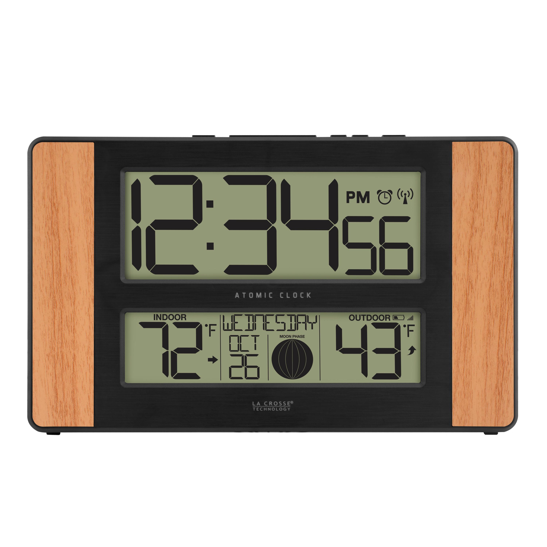 Amazoncom La Crosse Technology 5131417 Atomic Digital Clock