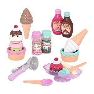 Plastic Stacking Ice Cream Toy Balancing Game with Scooper for Kid Child