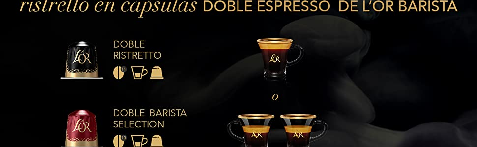 LOR BARISTA,Cápsulas Doble Barista Selection Intensidad 13 ...