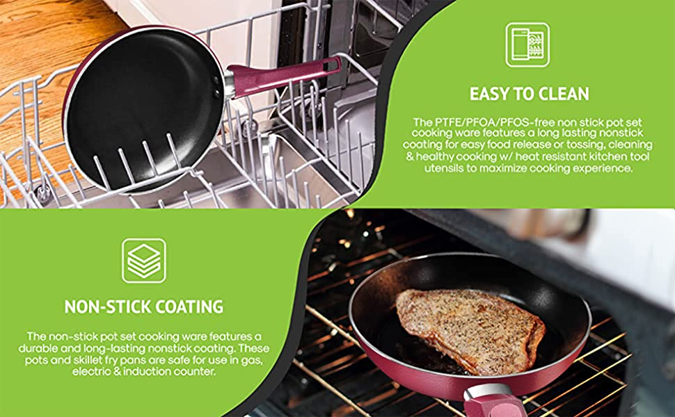 kitchen ware;nonstick cookware;cooking sets;cooking sets;green ceramic kitchen knives with b