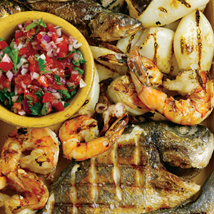 grill shrimp, grill chicken, grill seafood, seafood recipes, cooking over fire