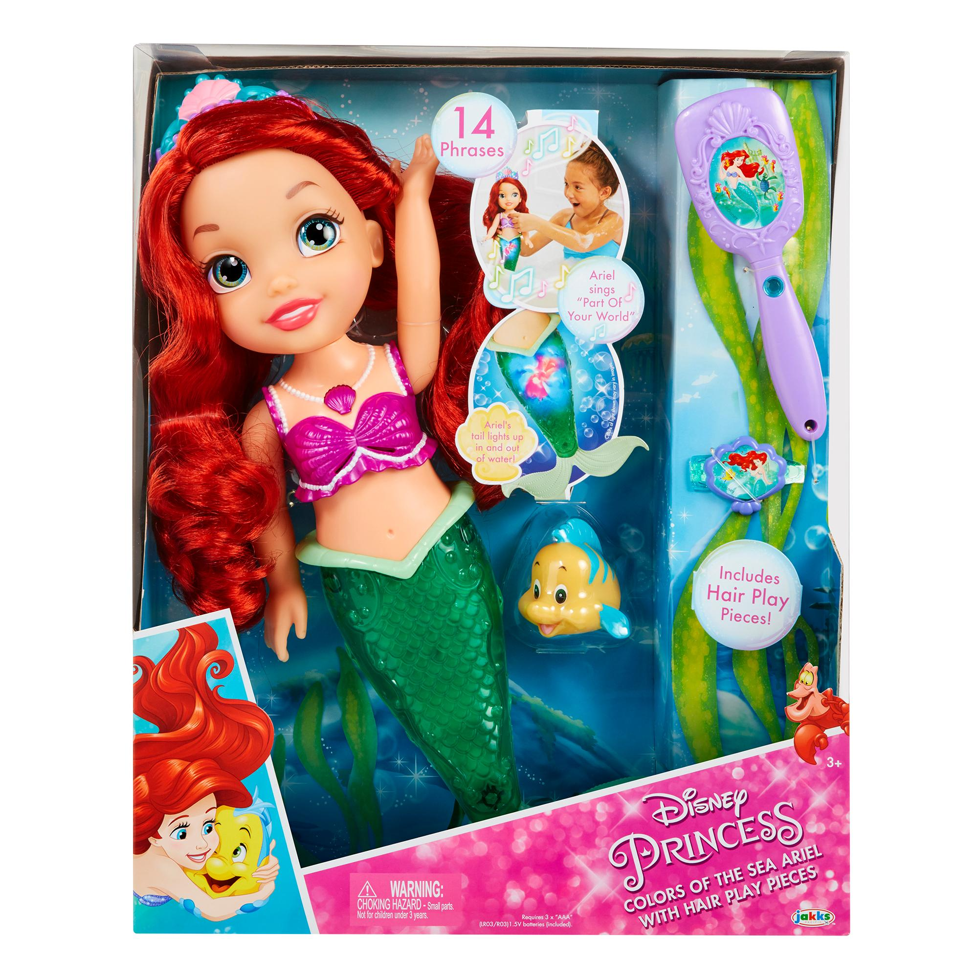 Amazon.com: Disney Princess Colors of the Sea Ariel Doll ...