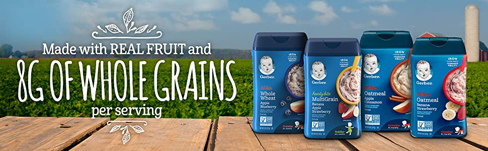 Made with REAL FRUIT AND 8g OF WHOLE GRAINS per serving