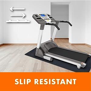Slip resistant fitness equipment mat