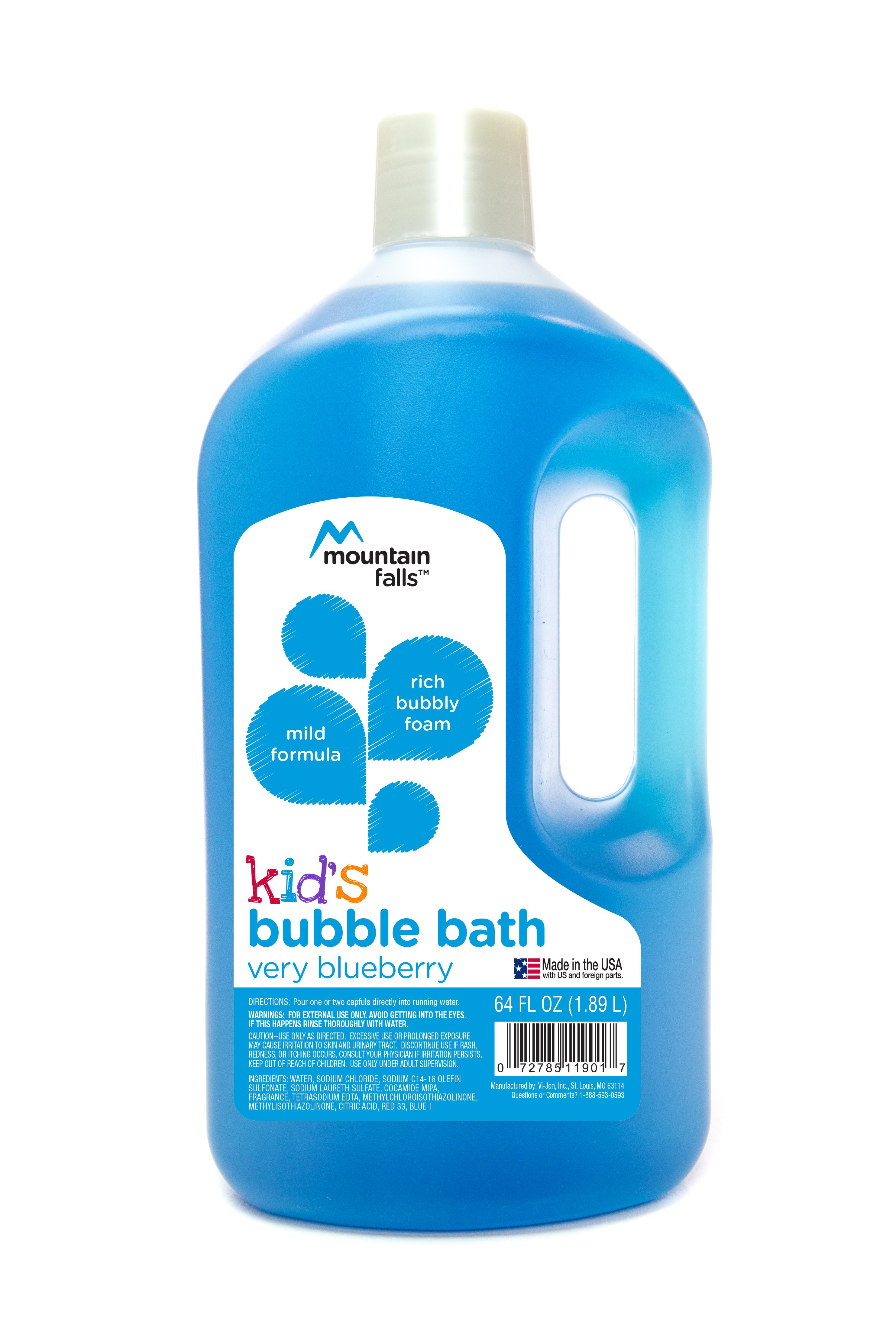 Amazon.com : Mountain Falls Kid\'s Bubble Bath, Very Blueberry, 64 ...