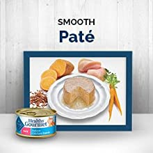 A variety of smooth patés in all your best friends favorite flavors including fish, chicken and more.