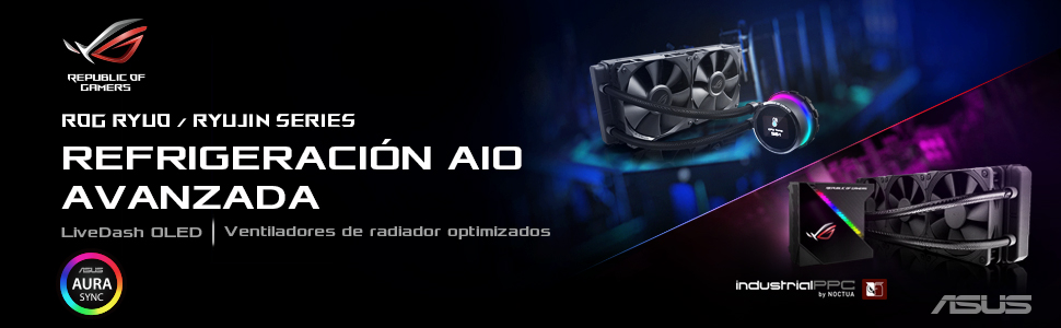 ASUS ROG RYUO 120 - Sistema de refrigeración líquida de CPU, con ...