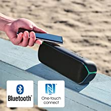 Stream music with BLUETOOTH technology and NFC™