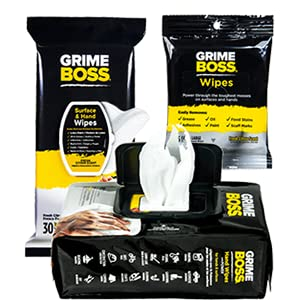 What are GRIME BOSS Surface and Hand Wipes?