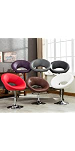 Amazon Com Roundhill Furniture Swivel Black Bonded