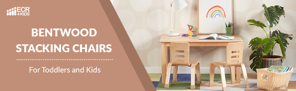 ECR4Kids - Bentwood Stacking Chairs