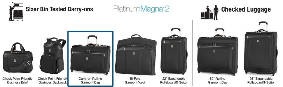 77eb4ca89 Amazon.com | Travelpro Platinum Magna 2 Carry-on Rolling Garment bag ...